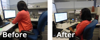 Before and After Ergonomic Services